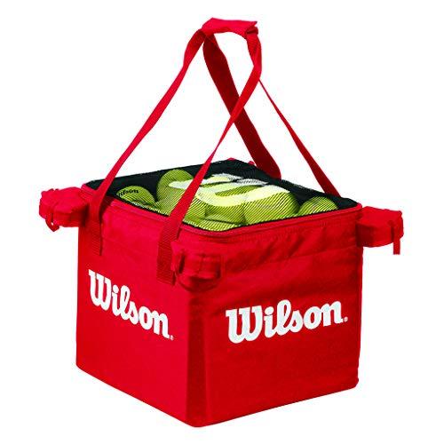 Wilson Tasche für Ballwagen, Tennis Teaching Bag, für bis zu 150 Bälle, rot, WRZ541300