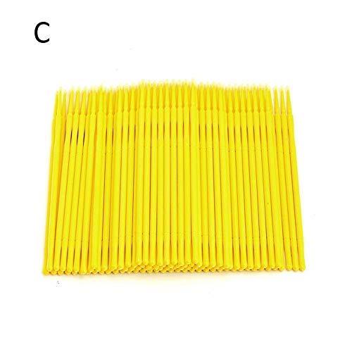Huir 100 Pcs Coton Cils Jetables Tampons Bâton Colle Cils Bâton de Nettoyage pour Lextension Des Cils