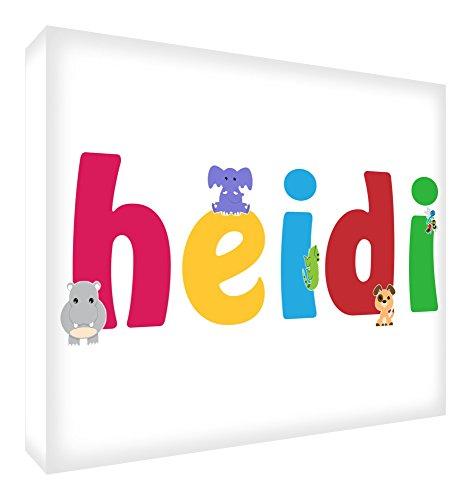 Feel Good Art lhv-heidi Galerie verpackt Leinwandbild für Kinderzimmer, die Solide Front Panel (30x 40x 4cm, mittel)