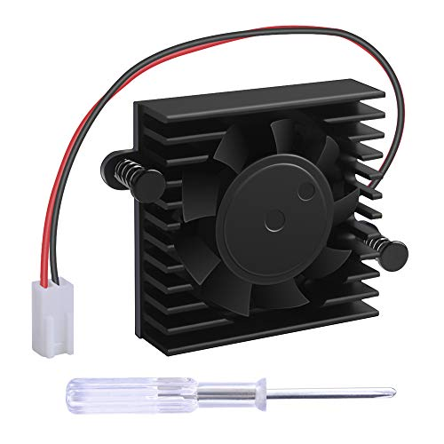 NewHail Ventilador de refrigeración disipador de calor con caja para DaHua DVR/HDCVI Ventilador de la placa base DVR Ventilador 2 alambres 2 Pin 5V Ventilador de refrigeración