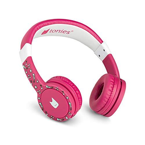Tonie-Lauscher pink: Kinder Kopfhörer passend zur Toniebox - Lautstärke reguliert, Abnehmbares Kabel, Größenverstellbar, Bewegliche Ohrmuscheln