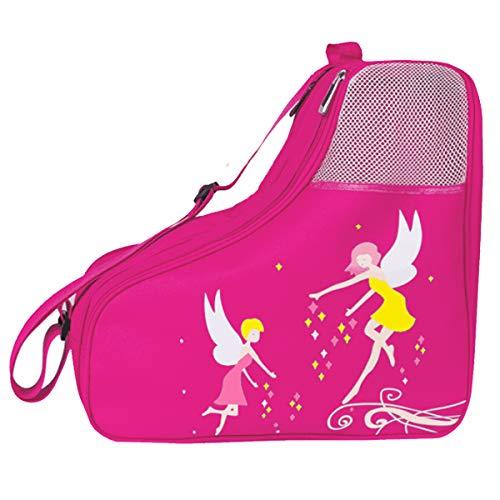 Schlittschuhtasche mit Henkeln Eislaufschuhe Tasche Kinder Rollschuhe, Inline-Skate-Tasche, Roller, Ski, Stiefel, Damen, Figur-Hockey-Skate-Tasche, für Schlittschuhe, Schutzausrüstung für Erwachsene