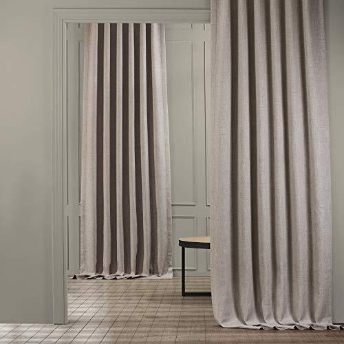 HPD Half Price Drapes BOCH-LN1858-120 Faux Linen Blackout Room Darkening Curtain (1 Panel), 50 X 120, Clay