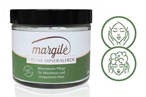 margilé grüne Mineralerde – 200 g. Hochwertige und ultrafeine Tonerde aus Frankreich. Gesichtsmasken und Körperpeelings selber machen. Natürlicher Badezusatz – für Mischhaut und normales Haar.