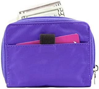 Women's Lynx Zippered Slim Wallet, Holds Up to 30 Cards