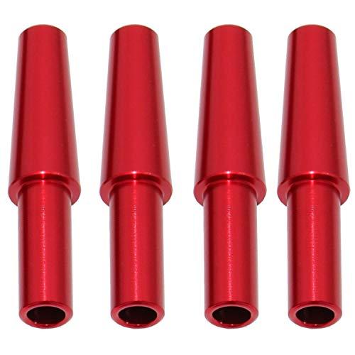Caesar 4er Schlauch-Endstück Set | Für Alle Wasserpfeifen geeignet | Universelle Shisha Schlauchendstück (Rot)