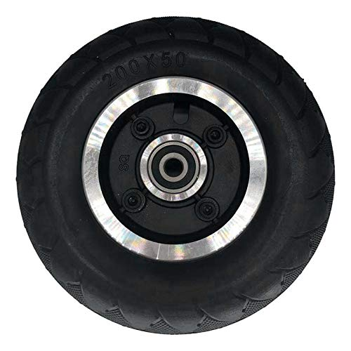 Jcevium Neumático completo sin cámara para patinete eléctrico de 8 pulgadas, rueda delantera y correa trasera, 200 x 50 piezas