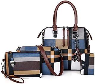 H&X® レディース バッグ 6点セット トート 手さげバッグ ショルダーバッグ 化粧品 コスメ ポーチ 財布 キーケース