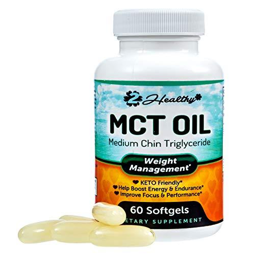Pure Keto MCT Oil Softgels: Coconut Oil Softgel Pills Best as Ketogenic Ketosis Diet Supplement. Caprylic Acid (C8) & Capric Acid (C10) Medium-Chain Triglycerides. Octane for Brain for Women or Men