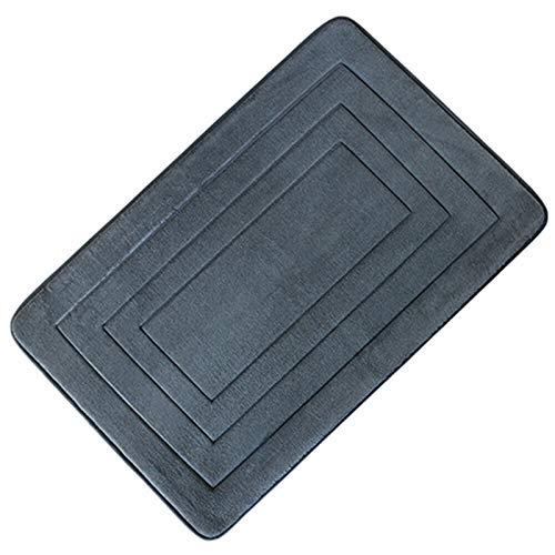 ZHANGJIAN Cocina Soft Bath Mat Ducha Alfombra Lavable Agua Absorbente Baño Non Slip Antideslizante (Color : Dark Gray)