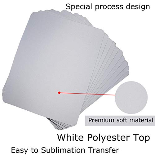 10pcs Sublimation Mouse Pad Blank Mouse Pad Sublimation Blanks Mousepad for Sublimation Transfer Heat Press Printing Crafts Non Slip Bottom 24x20x0.3CM Photo #4