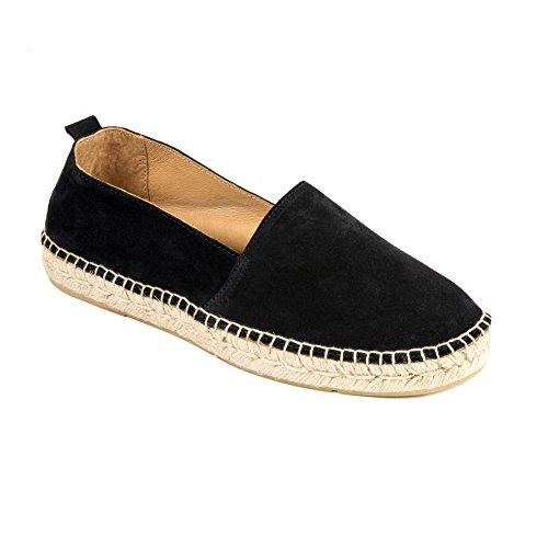 weltenmann Premium Herren Slip-on Espadrilles aus Wildleder mit Schuhbeutel, Navy, 45, Handmade in Spain