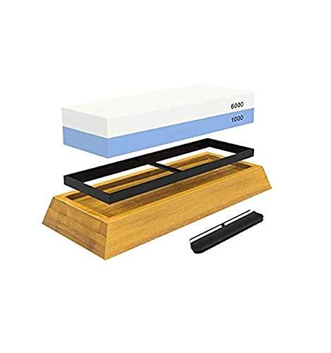 Sharp Pebble Premium-Whetstone Messer Schleifstein 2 Seiten Grit 1000/6000 Water Beste Whetstone Sharpener Nicht Beleg Bambus