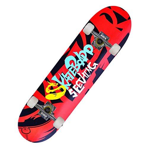 Skateboards Anfänger Fachleute 31 * 8 Zoll Komplette Kinder Erwachsene Board Doppel Kick Deck 7 Layer Ahorn Multiple Designs Cruiser Trick Skateboard-chinesischer Drache