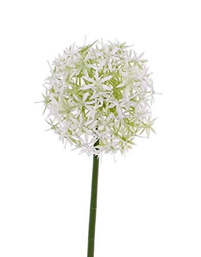 artplants.de Künstliche Blume Zierlauch REINGARD, weiß, 30cm, Ø 15cm