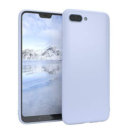 EAZY CASE Handyhülle Silikon mit Kameraschutz kompatibel mit Honor 10 in Himmelblau Blau, Ultra dünn, Slimcover, Silikonhülle, Hülle, Softcase, Backcover