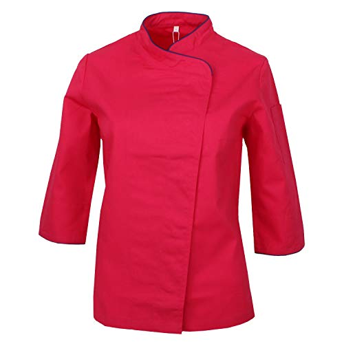 MISEMIYA - Chef Giacche Signora Maniche Lunghe - Ref.703 - X-Large, Pink