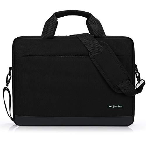Alfheim - Borse a Tracolla per Laptop,Borsa ventiquattrore Adatta per Laptop da 15.6-16 Pollici,Borsa per Notebook Impermeabile e Leggera, per Studenti/Affari/Viaggi (15.6-16 Pollici, Nero)