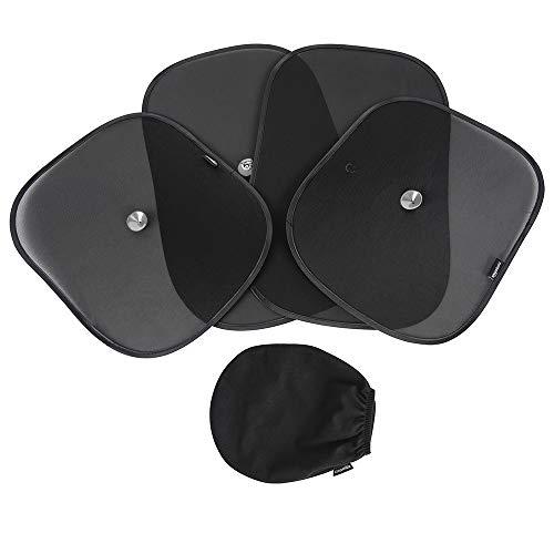 Amazonベーシック 遮光用サンシェード 車用 120/100GSMポリエステル 吸盤付き 半透明 (53×36cm) 2枚 透明 (...