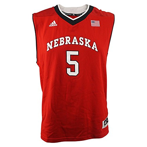 adidas Nebraska Cornhuskers NCAA Red Official #5 Road Replica Basketball Jersey for Toddler (3T)