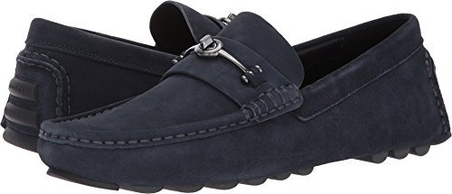 COACH Crosby Turnlock Driver Suede Midnight Navy 11 D (M)