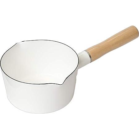 アイリスプラザ ミルクパン 鍋 15㎝ ホーローミルクパン ホワイト EMP-15 牛乳温め 片手鍋 汚れがつきにくい IH対応