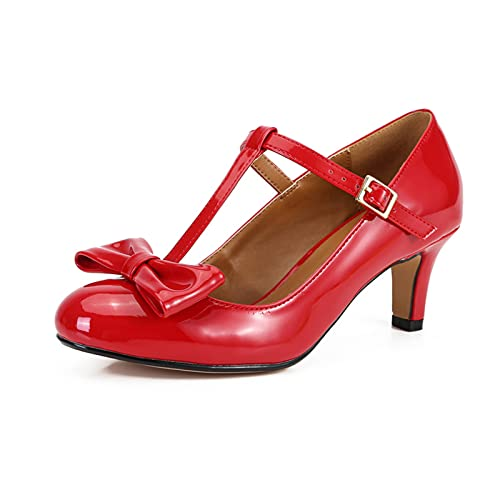 2.36IN Hombres Mujeres Tacón Punta Baja Tallas Grandes Zapatos Trabajo Boda Nupcial...