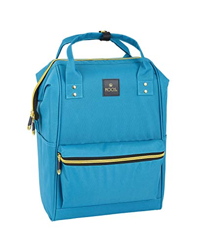 MOOS School Backpack, Blue, 40cm/15.75'