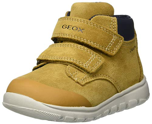 Geox B Xunday Boy A, Zapatillas para Bebés, Amarillo (Dk Yellow C2006), 22 EU