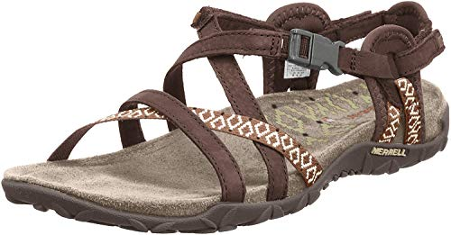 Merrell Terran Lattice Ii, Damen Sandalen, Braun (Dark Earth), 38 EU