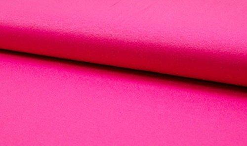 Qualitativ hochwertiger, unifarbener Viskosejersey Stoff in Pink als Meterware zum Nähen von Kinder- und Erwachsen Kleidung, 50 cm