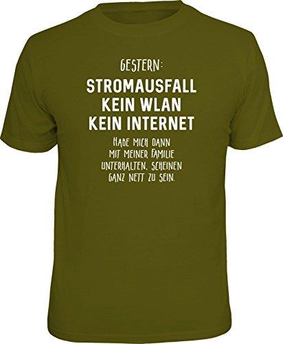 RAHMENLOS Original T-Shirt für den Nerd: Stromausfall! Kein WLAN… Größe XXL, Nr.6131