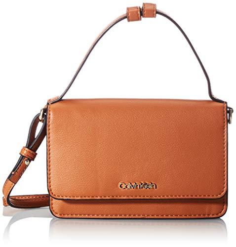CALVIN KLEIN Flap Wallet Mini Bag W/Top H, Accesorio Billetera de Viaje para Mujer, Brown, One Size