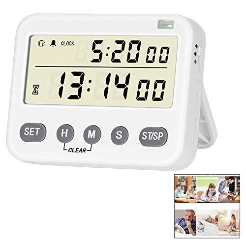 iwobi Digitale keukentimer kookwekker timer keukenklok groot LCD-display countdown timer voor bakken sport