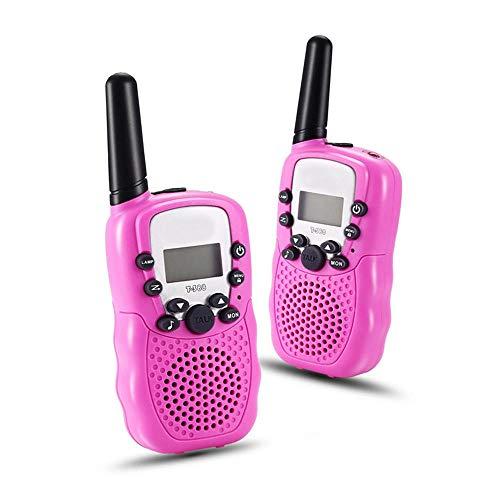 1Pairx Niños Niños Walkie Talkie Juego para Padres Teléfono Móvil Teléfono Que Habla Juguete 3-5Km Rango para Niños@Rojo