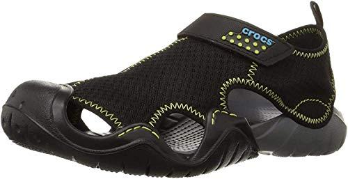 Crocs Men's Swiftwater Mesh Sandal, Black/Charcoal, 7 M US