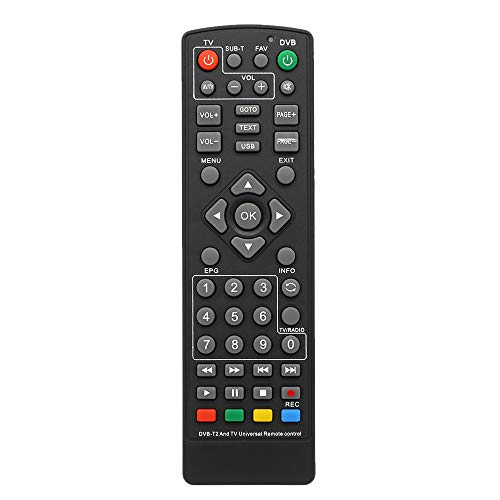 docooler Mando a Distancia Universal DVB-T2, decodificador, Mando a Distancia Inalámbrico Smart TV sustitución STB para HDTV Smart TV Box...