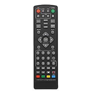 Docooler Mando a Distancia Universal DVB-T2, decodificador, Mando a Distancia Inalámbrico Smart TV sustitución STB para HDTV Smart TV Box Black