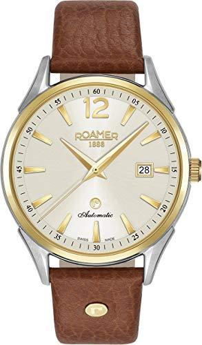 Roamer della Svizzera orologio da uomo 55066047350541mm Leather Band Automatic