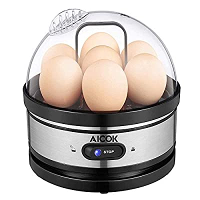 Egg cooker, AICOK Stainless Steel 7 Egg Capacit...