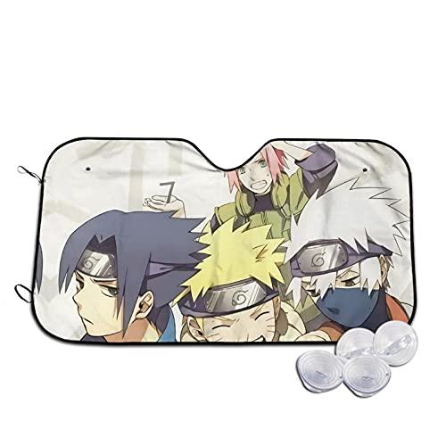 Naruto Team 7 Parabrisas Parasol Calor UV Visera Protector Coche Adsorción Frontal Ventana Electrostática Sol Bebé Sombrilla S