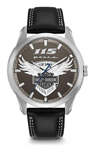 Harley-Davidson Reloj para hombre 115 aniversario edición limitada 76A160