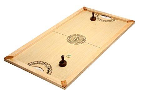 Shuffle-Puck Mango 130x70 cm - Carrom - Asmodee - Jeu en bois - Air Hockey