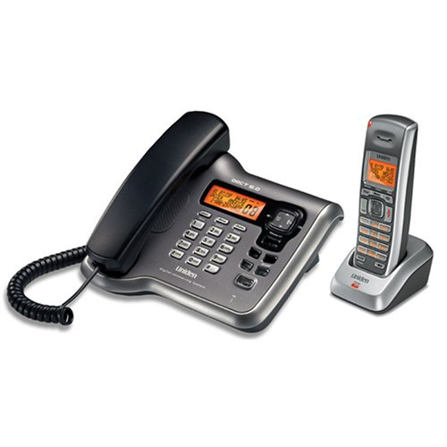 Uniden DECT2088 DECT 6.0 Corded/Cordless Phone with Answering System with Caller ID