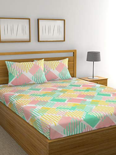 Raymond Home Double bedsheet with 2 Pillow Cover (Pink)