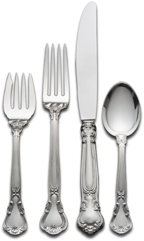 Gorham Chantilly 4 Piece Sterling Silver Flatware Place Set Service For 1