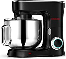 COOKLEE Stand Mixer, 9.5 Qt. 660W 10-Speed Electric Kitchen Mixer with Dishwasher-Safe Dough Hooks, Flat Beaters, Wire...