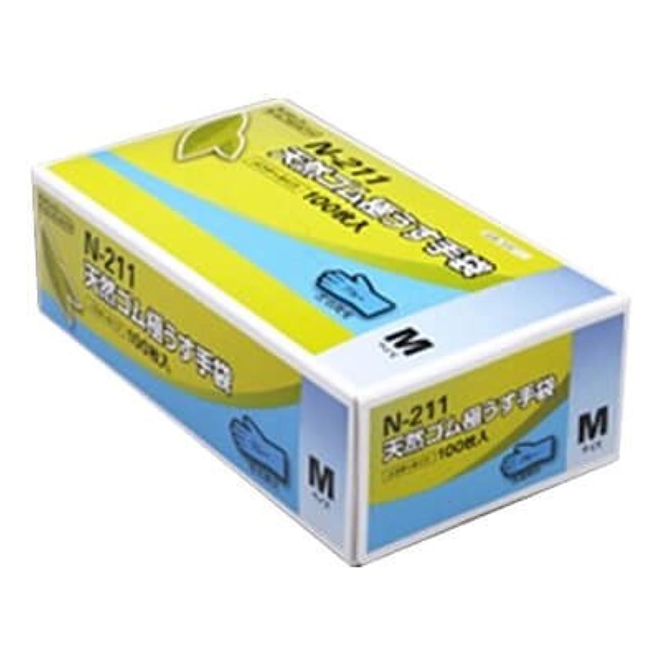 修羅場つかむ王位【ケース販売】 ダンロップ 天然ゴム極うす手袋 N-211 M ブルー (100枚入×20箱)
