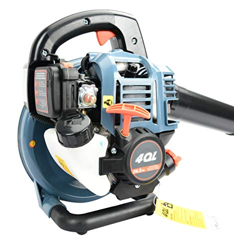 SENIX BL4QL-L 26.5cc 4 Stroke Gas Powered Leaf Blower with Auto-Choke Release, Blue