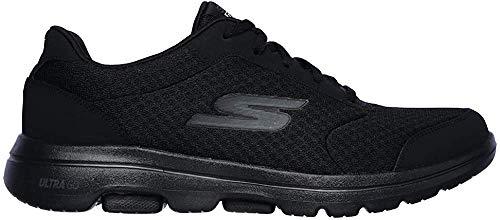 SKECHERS Herren Go Walk 5-Qualify Sneaker, Textile/Synthetic/Black Trim BBK, 49 EU